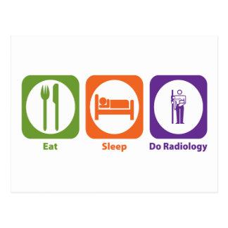 Coma el sueño hacen la radiología postales