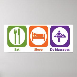 Coma el sueño hacen masajes póster
