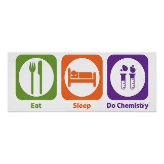 Coma el sueño hacen química póster