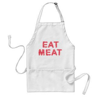 Coma el texto sustancioso de la carne delantal