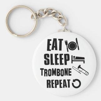 Coma el Trombone del sueño Llavero Redondo Tipo Chapa