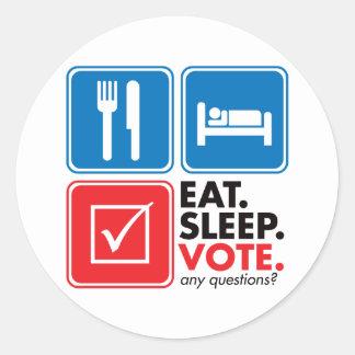 Coma el voto del sueño etiquetas redondas