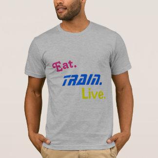 Coma., entrene., vivo camiseta