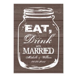 Coma la bebida sea invitaciones casadas del boda invitación 12,7 x 17,8 cm