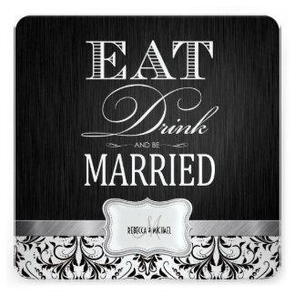Coma la bebida y esté casado con damasco negro y b