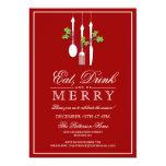 Coma la bebida y sea celebración de días festivos comunicado personal