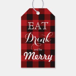 Coma la bebida y sea feliz etiquetas para regalos