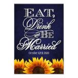 Coma la bebida y sea tarjetas rústicas casadas de invitación 8,9 x 12,7 cm