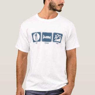coma la bici de montaña del sueño camiseta