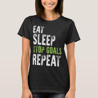 Coma la camisa de la repetición de las metas de la
