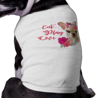 Coma la camisa linda del perro del dogo francés