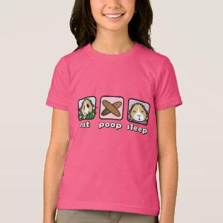 Coma la camiseta de los niños del conejillo de
