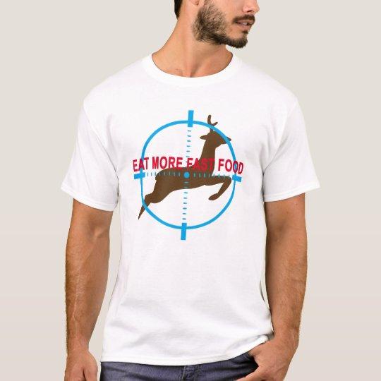 Coma la camiseta del humor de la caza de alimentos