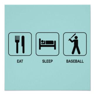 Coma la invitación del béisbol del sueño