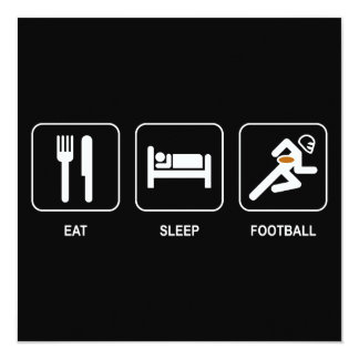 Coma la invitación del fútbol del sueño