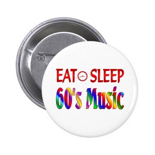 Coma la música de los años 60 del sueño pins