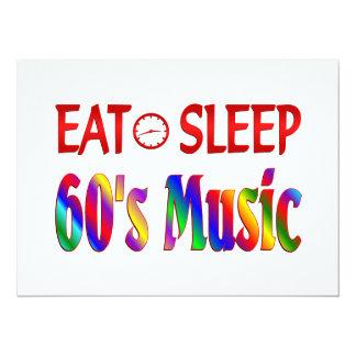 Coma la música de los años 60 del sueño comunicados personales