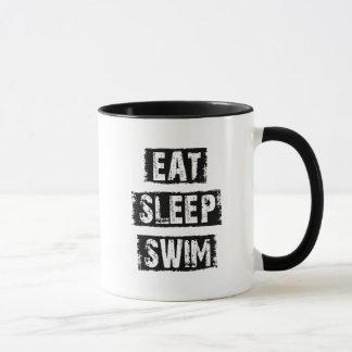 Coma la nadada del sueño taza