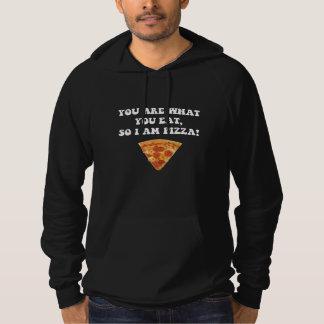 Coma la pizza pulóver con capucha