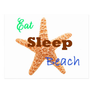 Coma la playa del sueño - postal