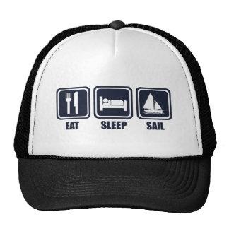 Coma la repetición de la vela del sueño gorras