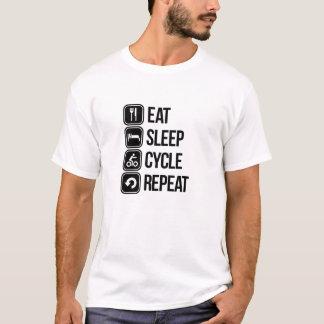 Coma la repetición del ciclo del sueño camiseta