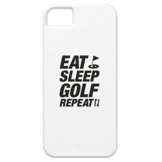 Coma la repetición del golf del sueño funda para iPhone SE/5/5s