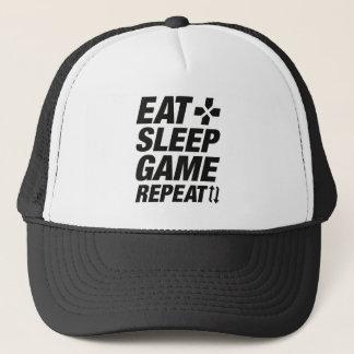 Coma la repetición del juego del sueño gorra de camionero