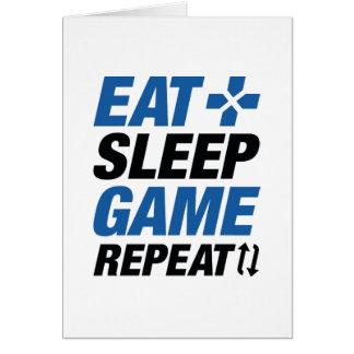 Coma la repetición del juego del sueño tarjeta