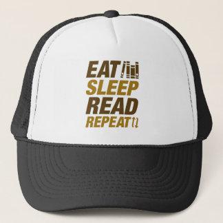 Coma la repetición leída sueño gorra de camionero