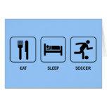 Coma la tarjeta del fútbol del sueño
