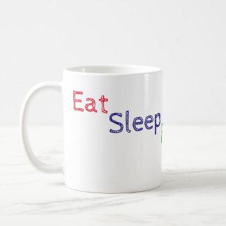 Coma la taza de la repetición del blog del sueño