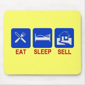 Coma la venta del sueño clara alfombrilla de ratón
