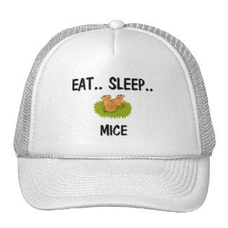 Coma los RATONES del sueño Gorros Bordados