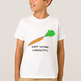 Coma más camisetas de las zanahorias