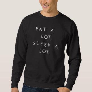 Coma mucho, camiseta del sueño mucho
