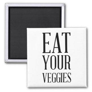 Coma su imán de los Veggies