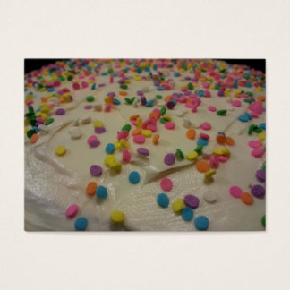 Coma su tarjeta de visita de la torta