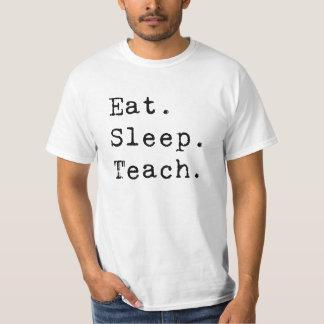 Coma. Sueño. Enseñe Camiseta