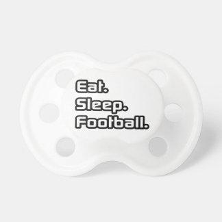 Coma. Sueño. Fútbol Chupetes Para Bebés