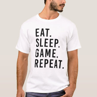 COMA. SUEÑO. JUEGO. REPETICIÓN. Camiseta del friki
