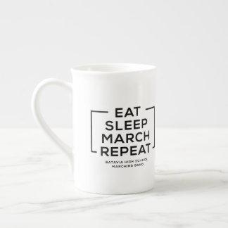 Coma - sueño - marzo - repita la taza