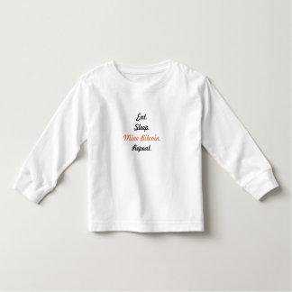 Coma. Sueño. Mina Bitcoin. Repetición Camiseta De Bebé
