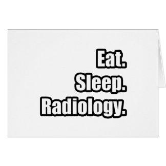 Coma. Sueño. Radiología Felicitación
