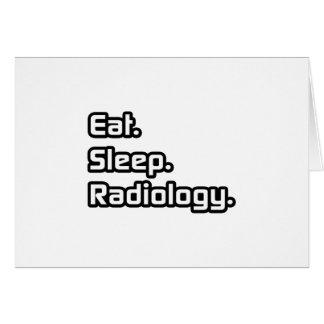 Coma. Sueño. Radiología Felicitacion