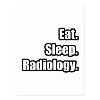 Coma. Sueño. Radiología Postales