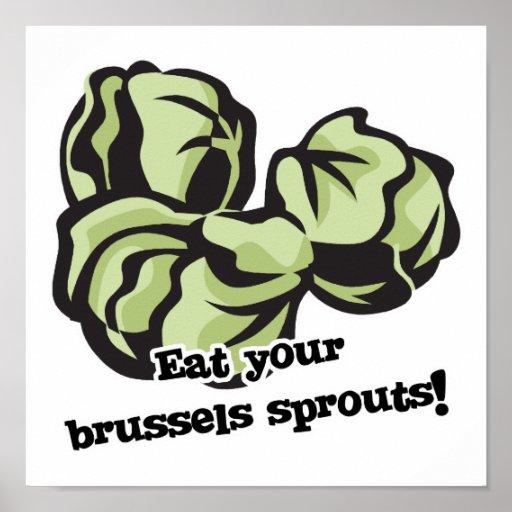 coma sus coles de Bruselas Impresiones