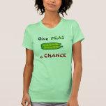 Coma sus Veggies dan a GUISANTES una camiseta de