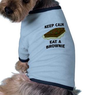 Coma un brownie camiseta con mangas para perro