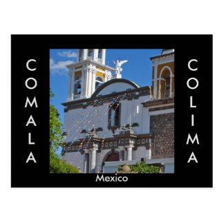 Comala, postal de Colima, México